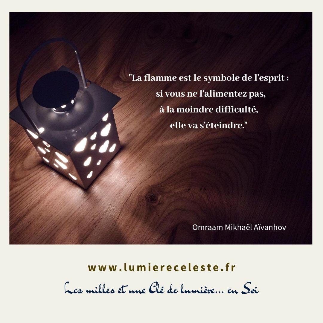La flamme est le symbole de l esprit si vous ne l alimentez pas a la moindre difficulte elle va s eteindre 1